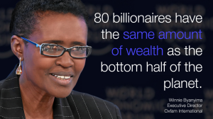 Byanyima - 80 Bilionaires have the same amount - Winnie-Byanyima-2-1024x576